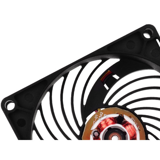 Integrated air channeling grille double as fan guard to reduce overall size