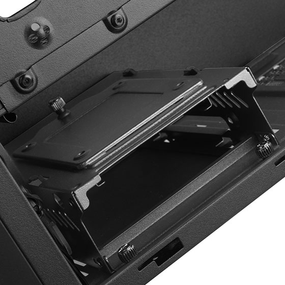 "Internal drive cage with 2.5"" mounting plate"