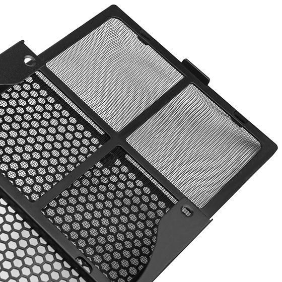 Fan filter included to provide great dust reduction.