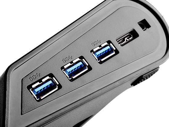 Three SuperSpeed USB 3.0 ports