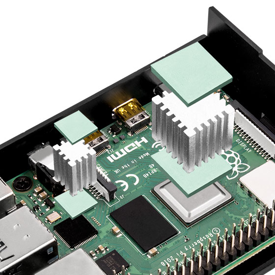 Raspberry Pi 4B installed