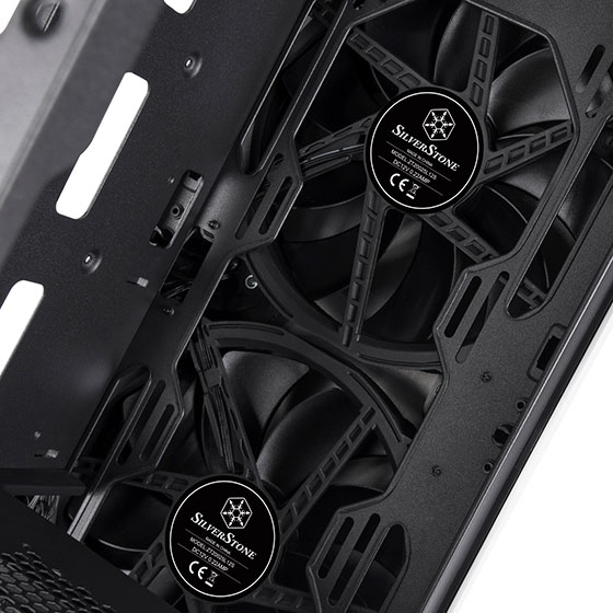 Two included 200mm front intake fans